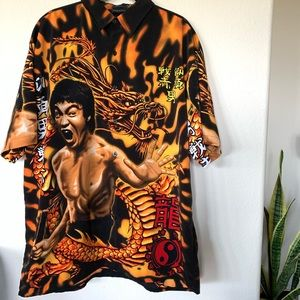 Vintage Jackie Chan Button Down Short Sleeve NWOT